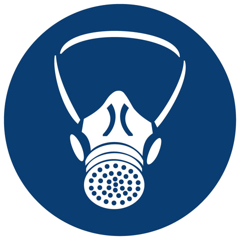 Respiratory Protection Shall Be Worn safety sign (MV 2)