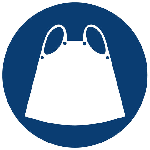 Apron Shall Be Worn safety sign (MV 9)