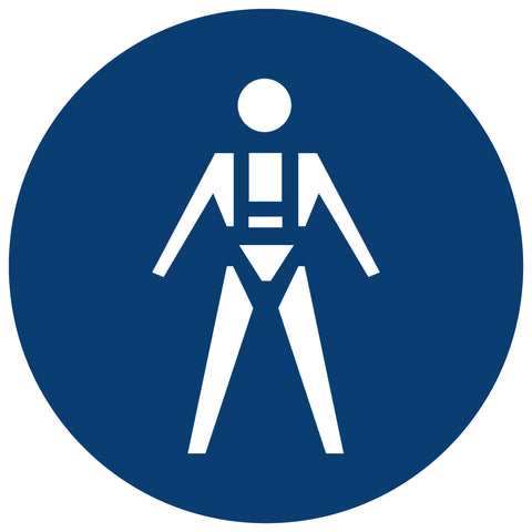 Full Body Harnesses And Lifelines Shall Be Worn safety sign (MV 18)