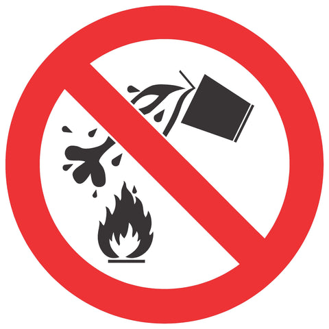 No Water As Extinguishing Agent safety sign (PV 4)
