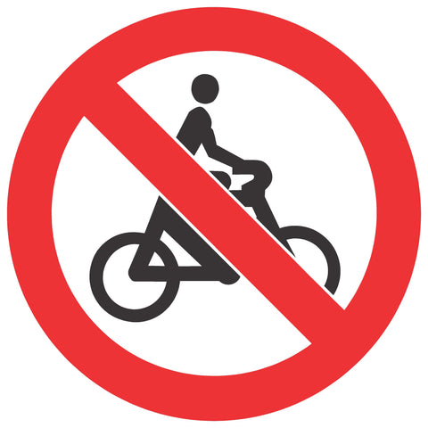 No Cycling safety sign (PV 7)