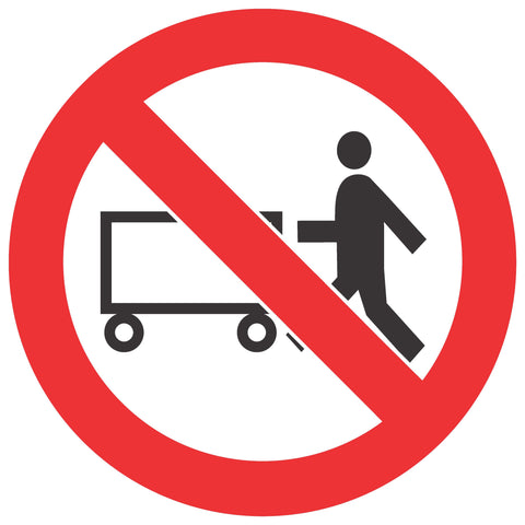 No Hand Trolleys safety sign (PV 9)