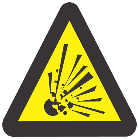 Beware Of Explosion Hazard safety sign (WW 3)