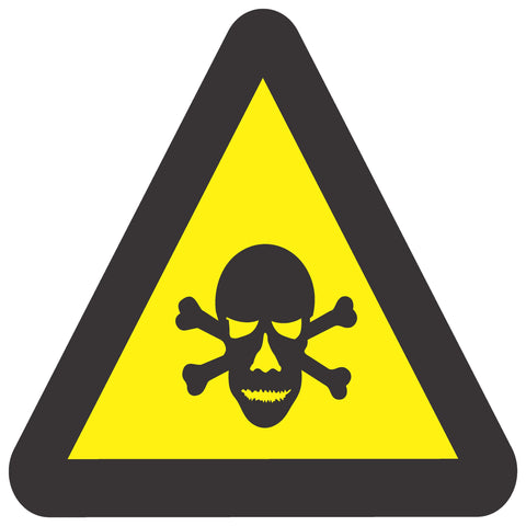 Beware Of Poisonous Substances safety sign (WW 5)