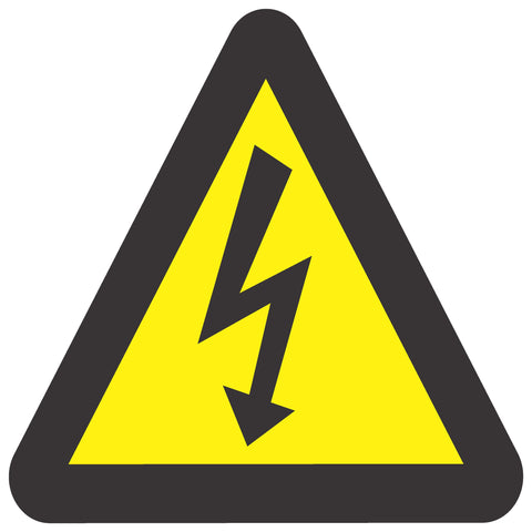 Beware Of Electric Shock safety sign (WW 7)