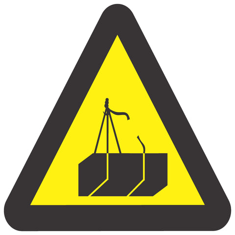 Beware Of Suspended Loads safety sign (WW 8)