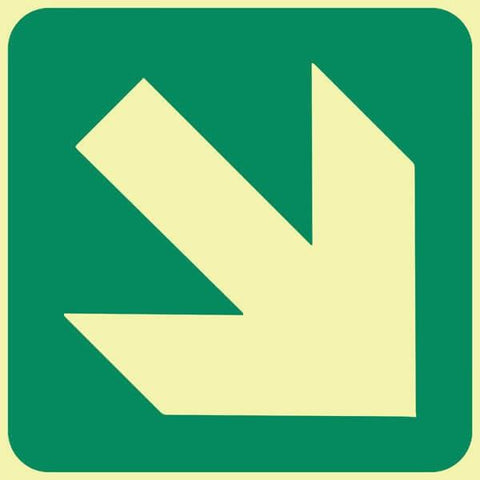 General Direction - Diagonal Green Arrow safety sign (GP 2)