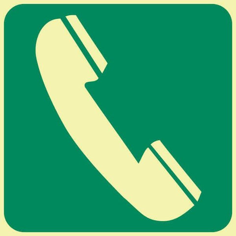 Telephone safety sign (GP 8)