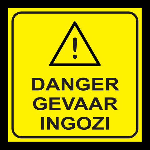 Danger - 3 Languages safety sign (MV 42)