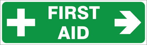 First Aid - ( Right ) safety sign (IN36R)