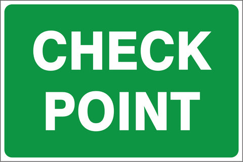 Check Point saftey sign (IN21)