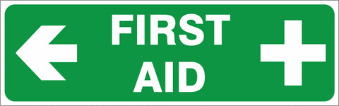 First Aid - ( Left ) safety sign (IN36L)