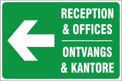 Reception and Offices left safety sign (IN20)