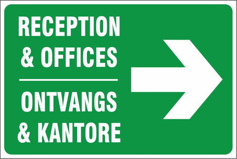 Reception and Offices right safety sign (IN19)