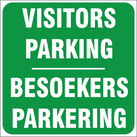 Visitors Parking - 2 Languages safety sign (IN17)