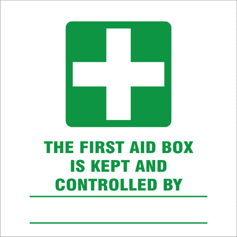 First aid box is kept and controlled by safety sign (IN6)