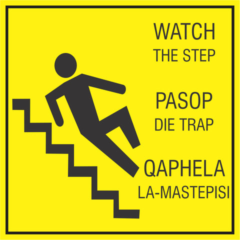 Watch the step safety sign  (HW7)