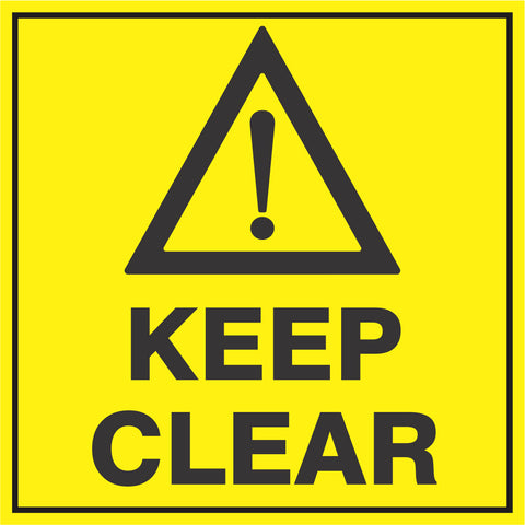 General warning with Keep Clear safety sign  (HW1)