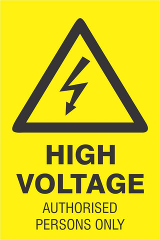 High Voltage safety sign (HW151)