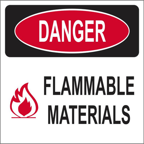 Danger : Flammable Materials safety sign (M205)