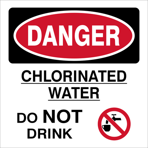Danger Chlorinated water safety sign (DCW01)