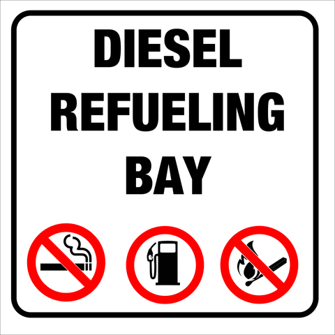 Diesel Refueling Bay safety sign (DRB01)