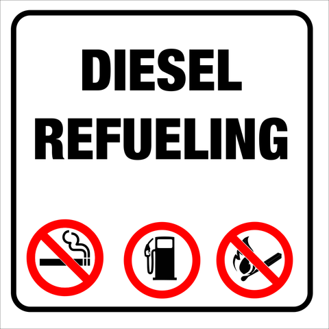Diesel Refueling safety sign (DRB02)
