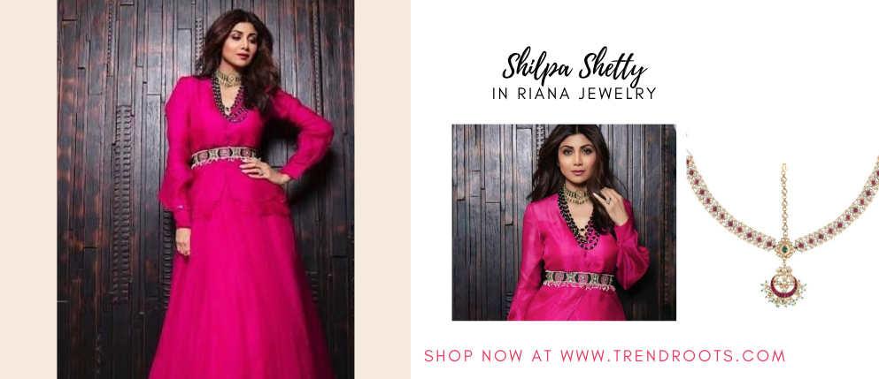 Shilpa Shetty in Riana Jewellery now available at Trendroots