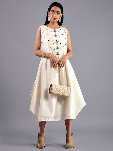 Ivory Drape Dress (Set of 2) by Sonal Kabra now available at Trendroots