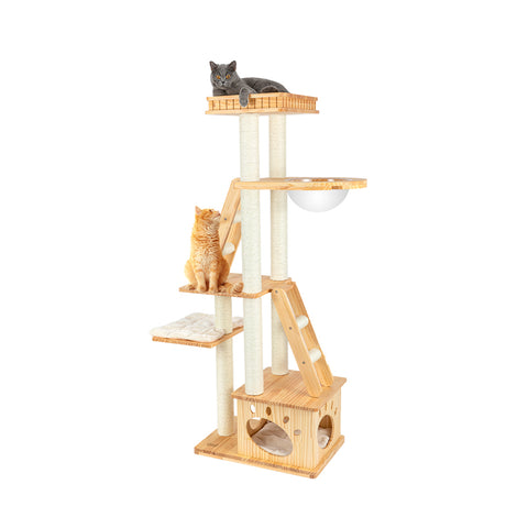 [Pre order] HONEYPOT CAT® Solid Wood 5-Level Cat Tree 1.76m