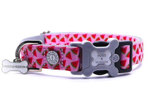 Hugo&Hudson Pink Watermelon Dog Collar