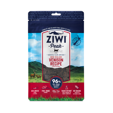 ZiwiPeak® Vension Gently Air-dried Cat Food 400g