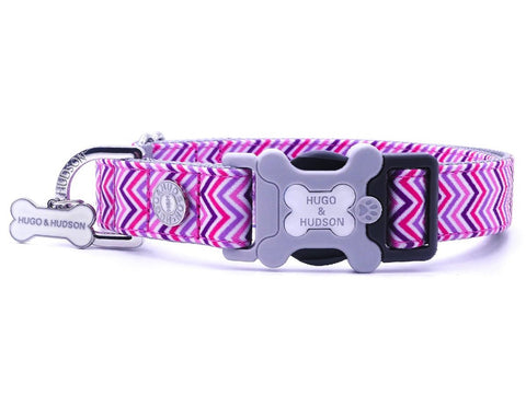 Hugo&Hudson Pink and Purple Chevron Dog Leash