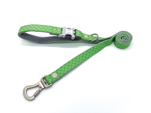 Hugo&Hudson Green Geometric Dog Leash
