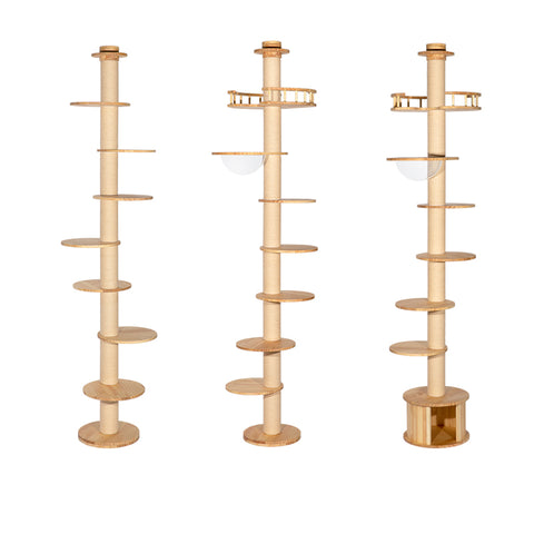HONEYPOT CAT® Solid Wood Cat Tree Breeder choice 3Types 235cm-290cm #200817