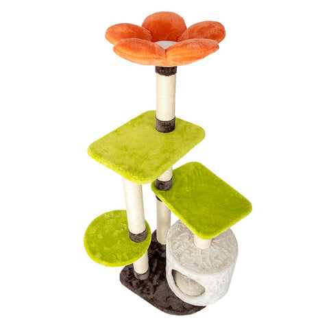 HONEYPOT CAT® Colorful Flowers Style Cat Tree 118cm #180223