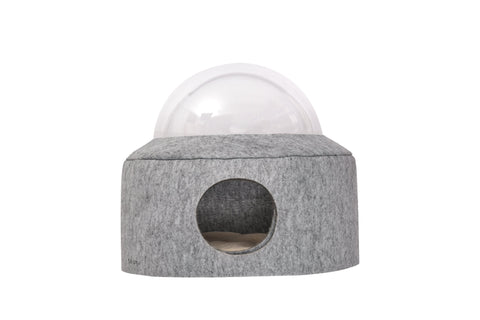 Furrytail® Space Capsule Cat Bed Grey