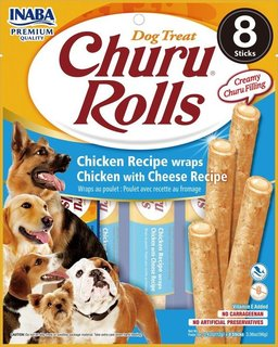 Inaba Churu Roll Chicken Recipe Wraps Chicken with Cheese Recipe (8pcs/pk)