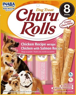 Inaba Churu Rolls Chicken Recipe wraps Chicken with Salmon Recipe