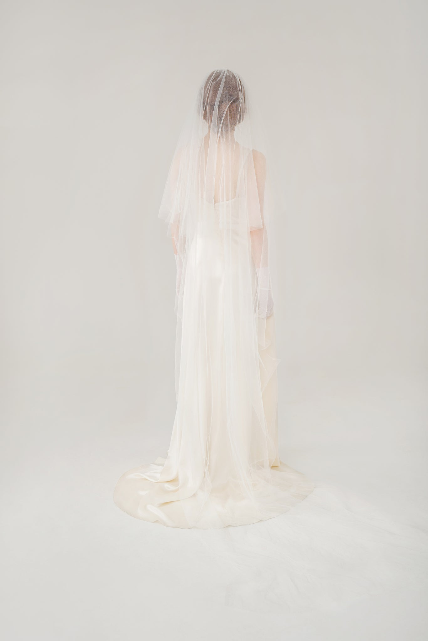 Elizabeth Two-Tier Cascade Veil