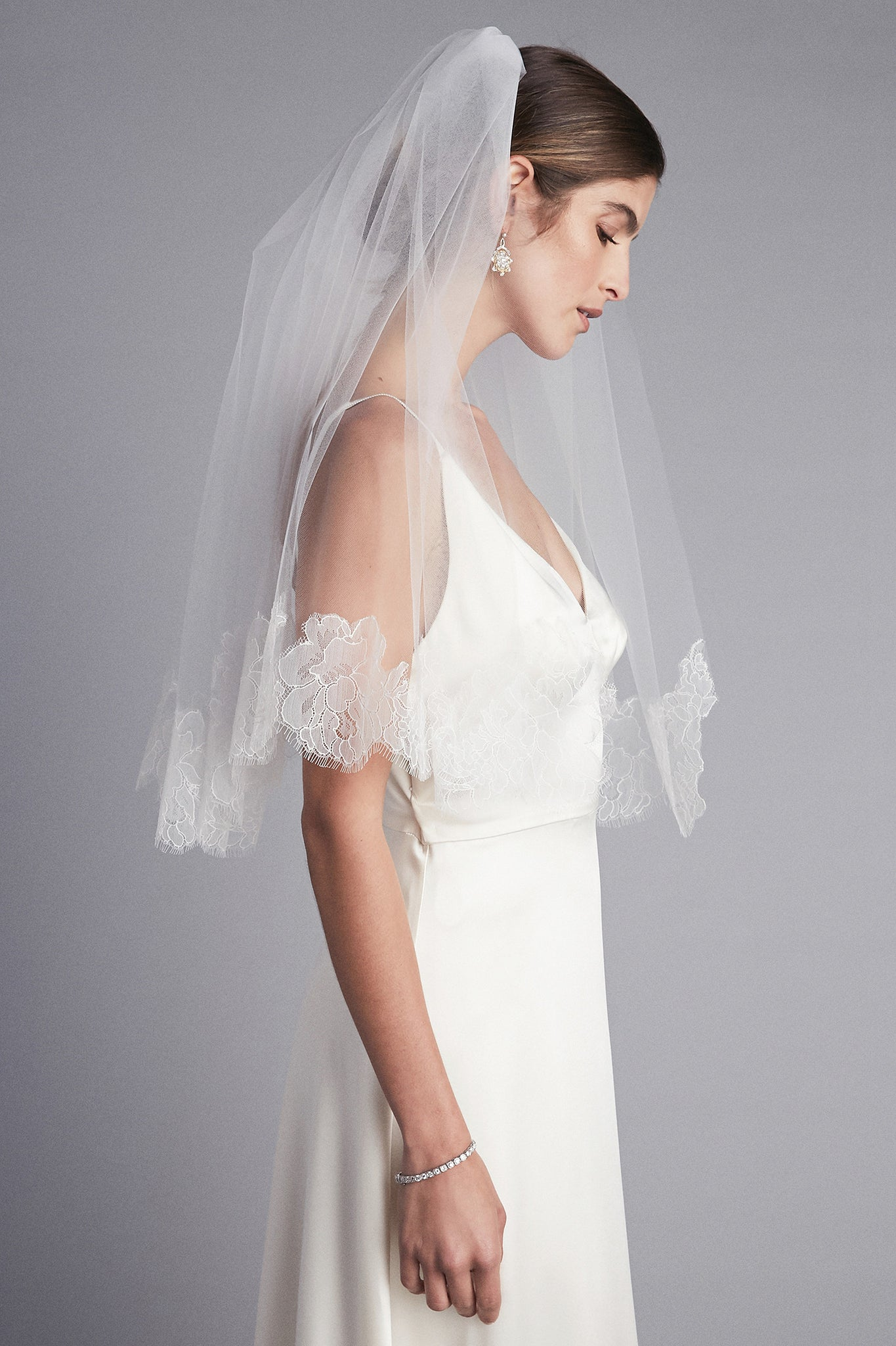 Lace Trimmed Blusher Veil