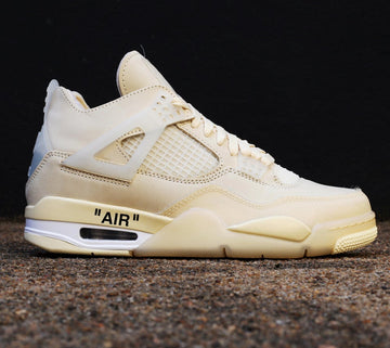 OFF-WHITE C/O VIRGIL ABLOH x NIKE - Air Jordan 4 Retro Sail