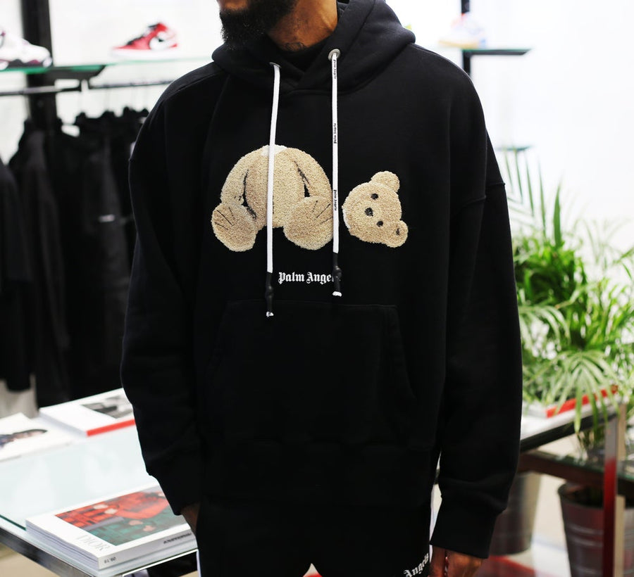 PALM ANGELS - Bear Hoodie Black