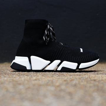 BALENCIAGA - Speed 2.0 Lace-Up Sneaker BLACK/WHITE