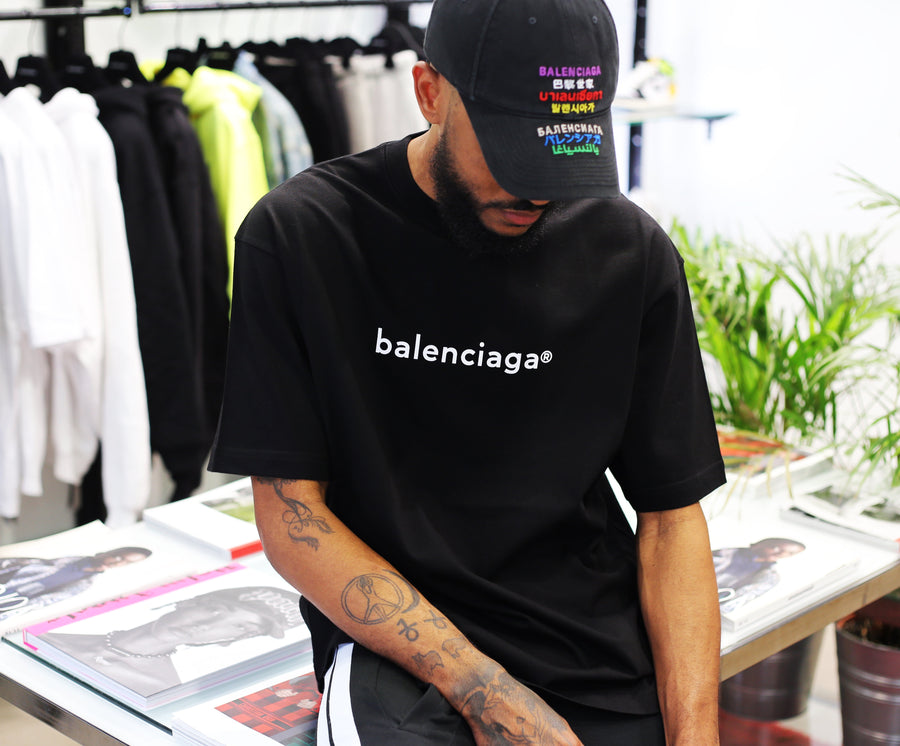 BALENCIAGA - Copyright Medium Fit T-Shirt Black