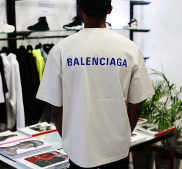 BALENCIAGA - Logo Medium Fit T-shirt Beige