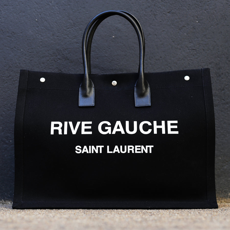 SAINT LAURENT - Rive Gauche Tote Bag Black