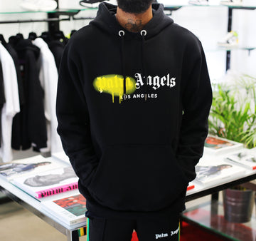 PALM ANGELS - LA Sprayed Logo Hoodie
