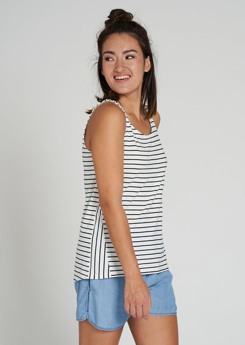 Recolution Damen Casual Top #STRIPES