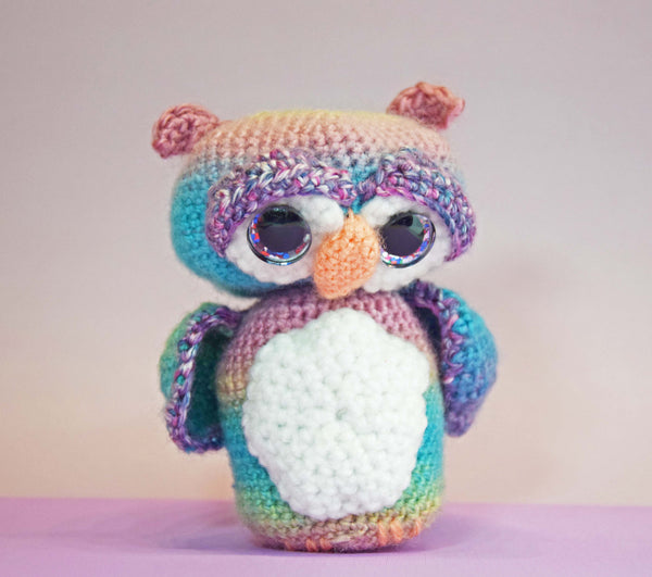 Shy Owl Crochet Pattern PDF - Digital Download